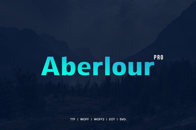 Aberlour - Modern Typeface WebFonts example image 1