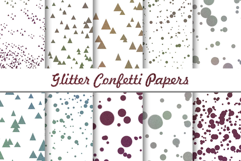 Glitter Confetti Digital Paper, Glitter Confetti, SALE example image 3