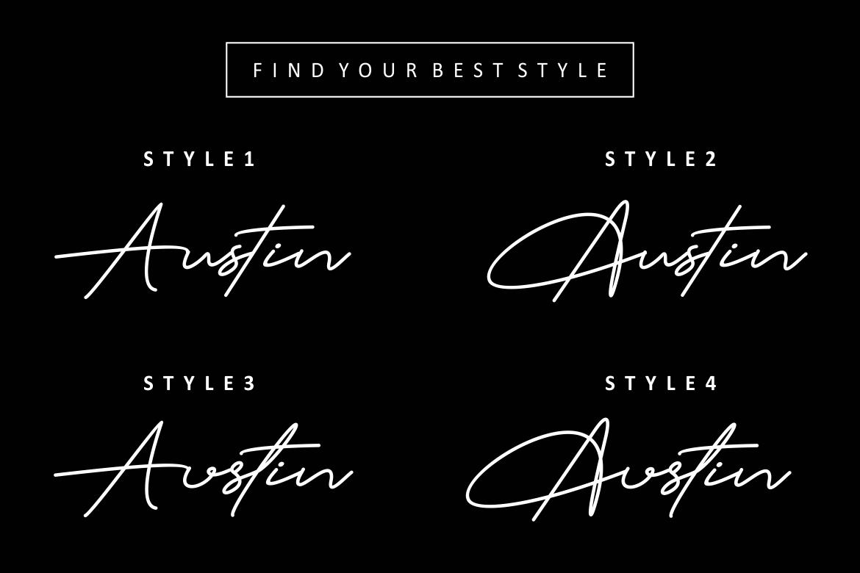 Austin Signature Font example image 3