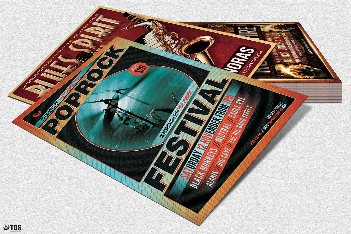 Concert Live Flyer Bundle V1 example image 6