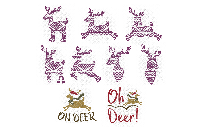 Reindeer SVG Bundle Antlers in SVG, DXF, PNG, EPS, JPEG example image 8