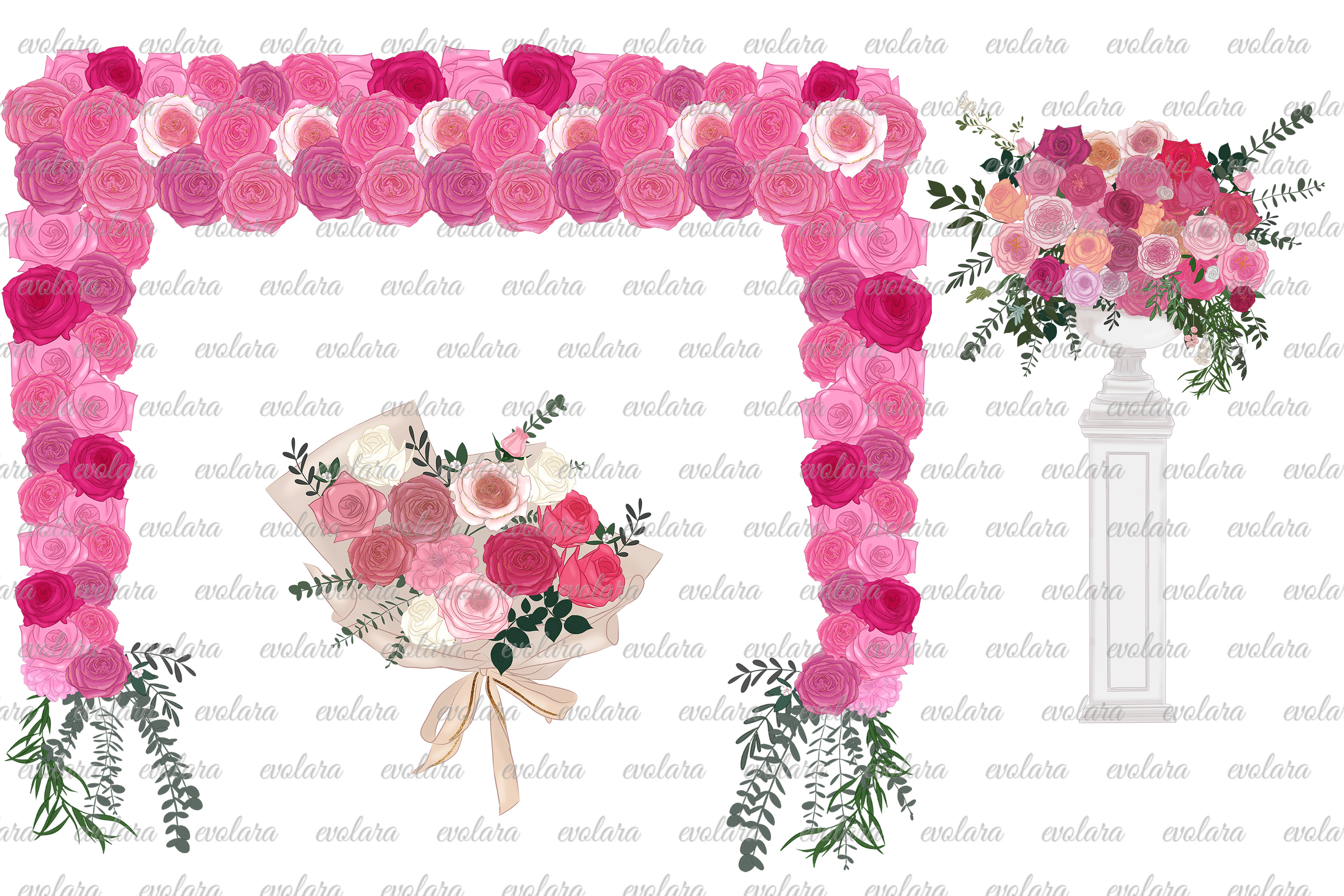 Bride Clipart Wedding Clipart Bride Groom Clipart Bridal example image 4