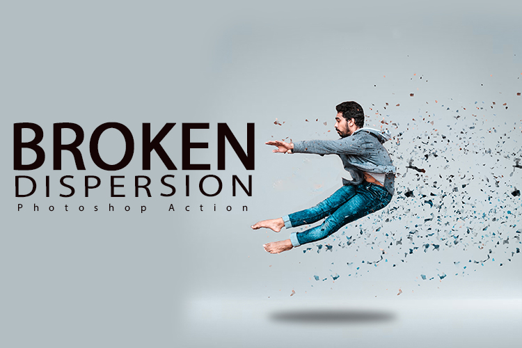 Broken Dispersion Photoshop Action example image 1