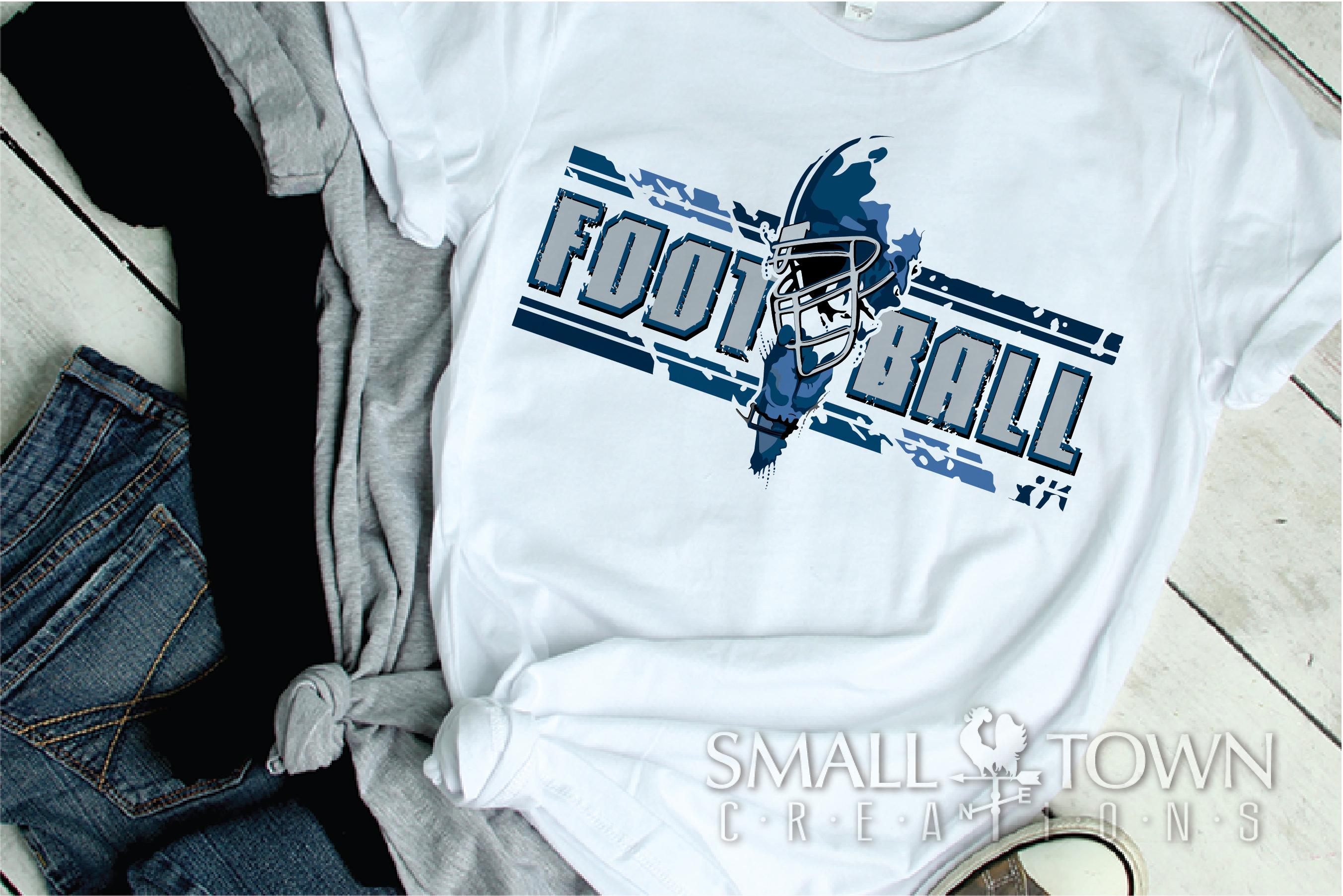 Football, Football helmet, Team logo, PRINT, CUT & DESIGN example image 1