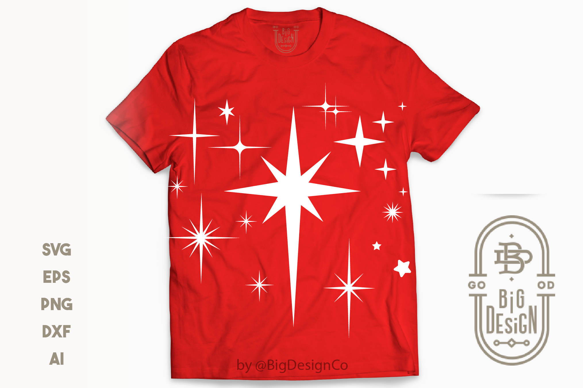 Stars SVG Bundle - 13 Designs , Christmas SVG , Star Vector example image 3