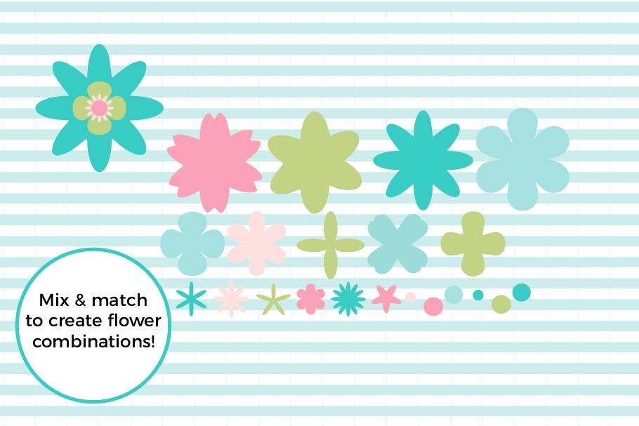 Flower Cut File Bundle example image 2
