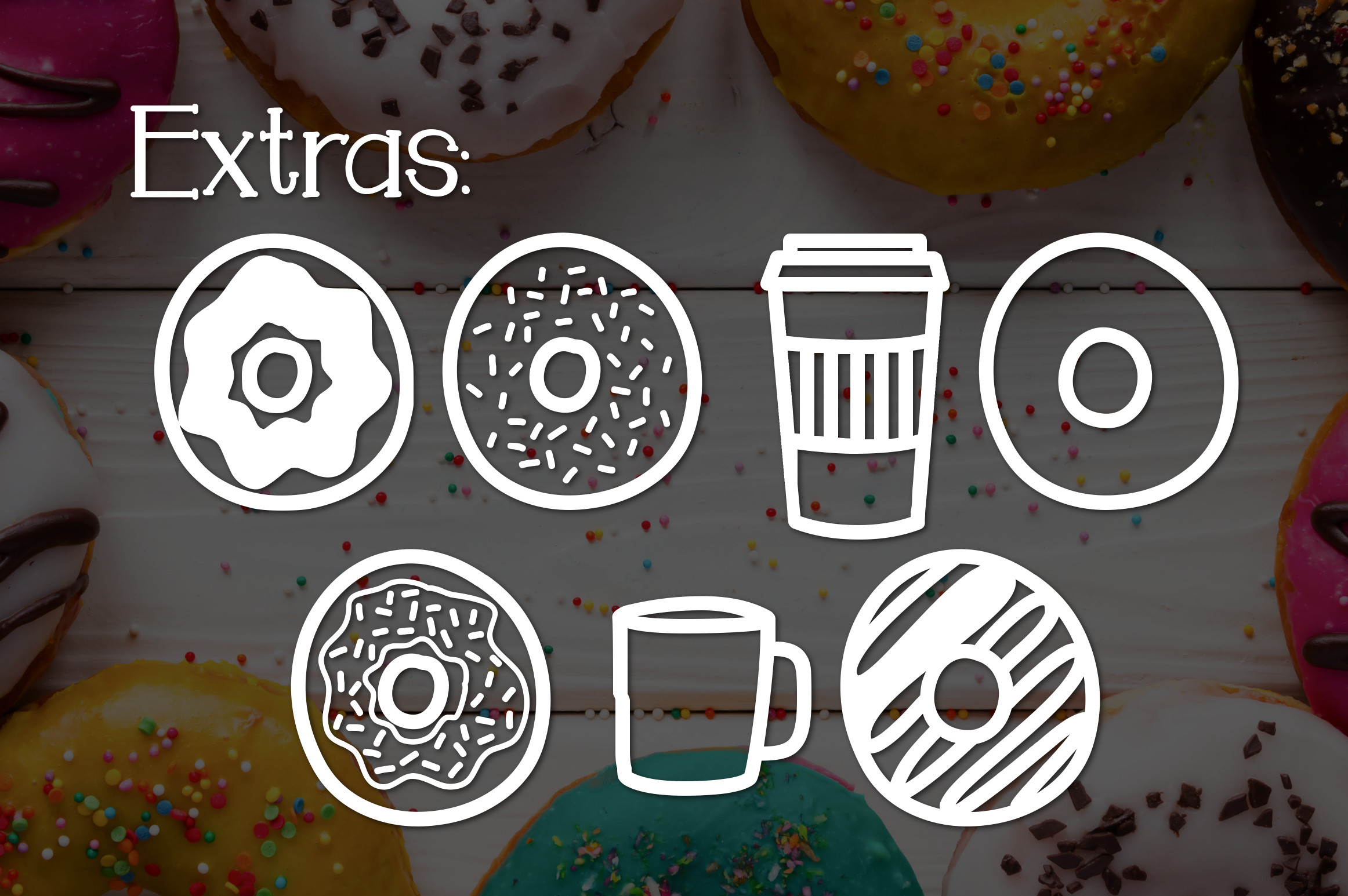 Donut Shoppe a Sweet Font example image 3