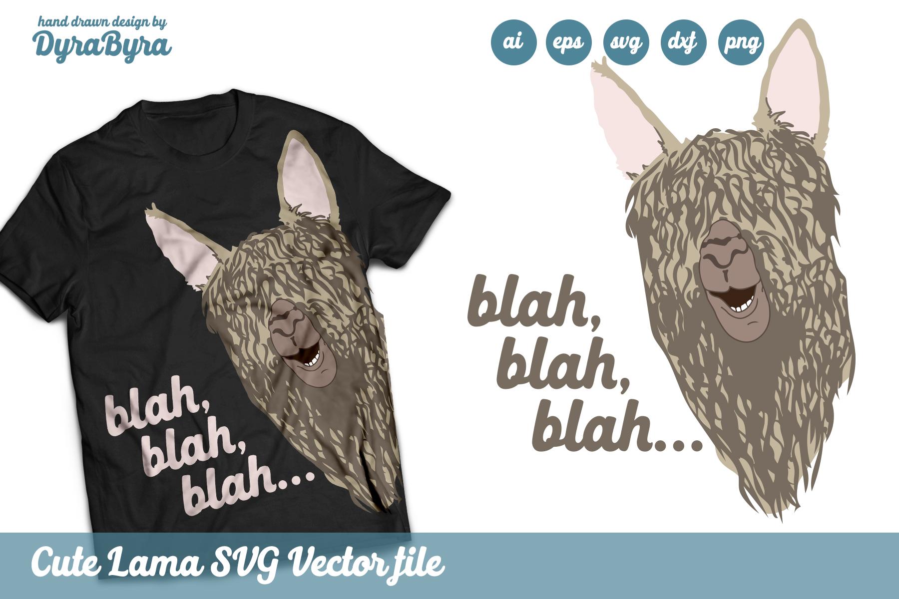 Llama SVG - Cute Llama Vector File - Kids Fun SVG example image 2