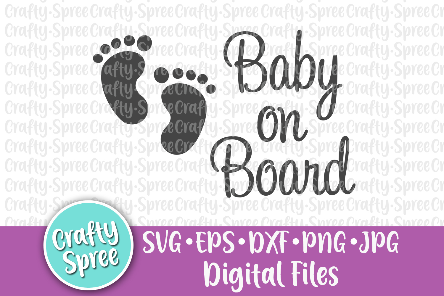 Baby on Board SVG DXF Design Element Sublimation example image 1