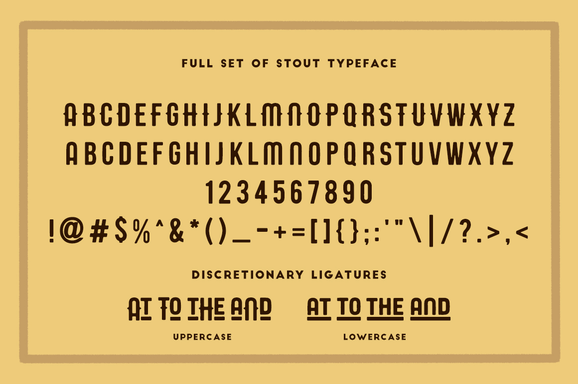 STOUT Typeface example image 3