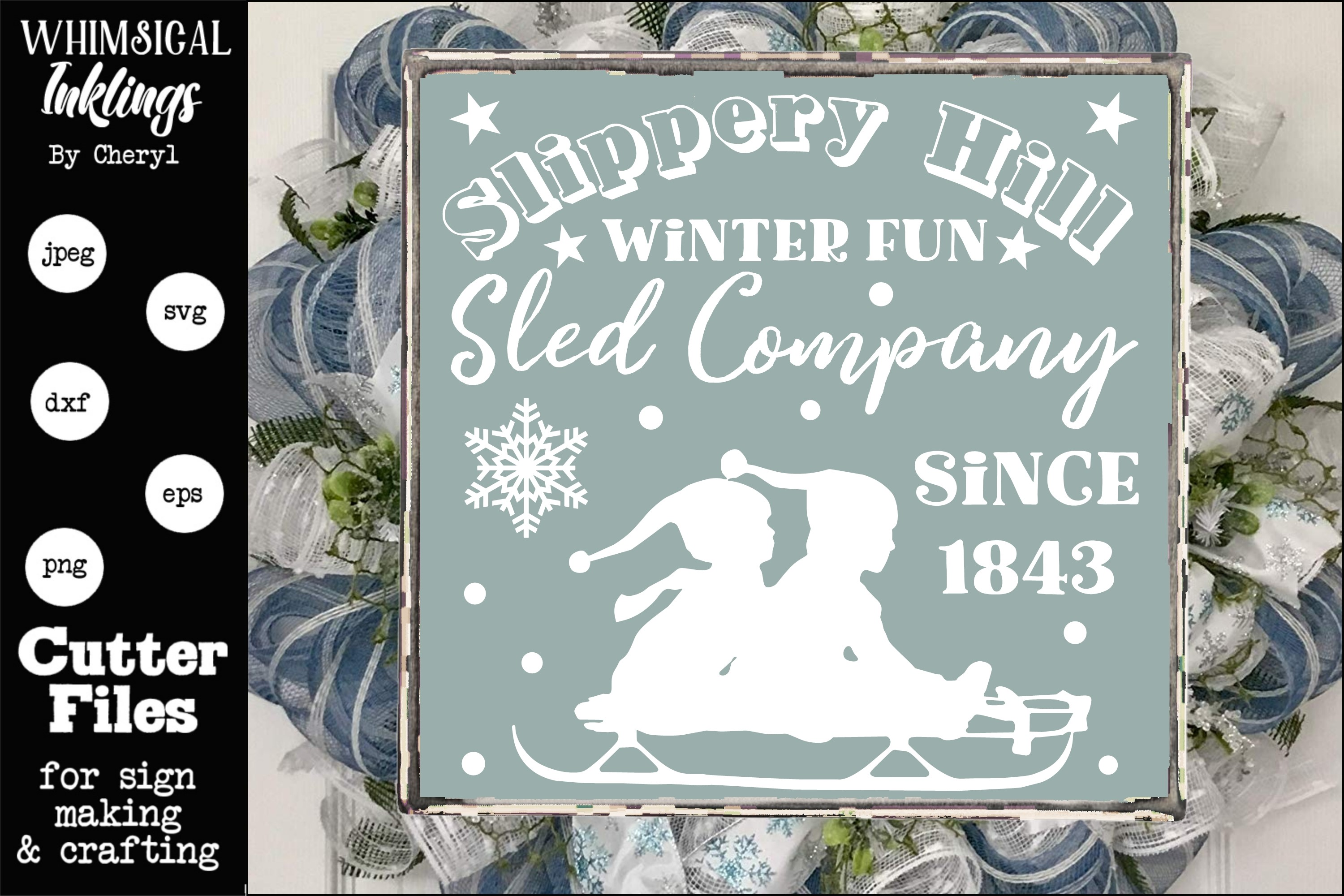 Slippery Hill Sled Company SVG example image 1