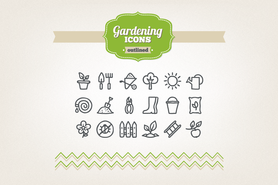 Hand Drawn Gardening Icons example image 1