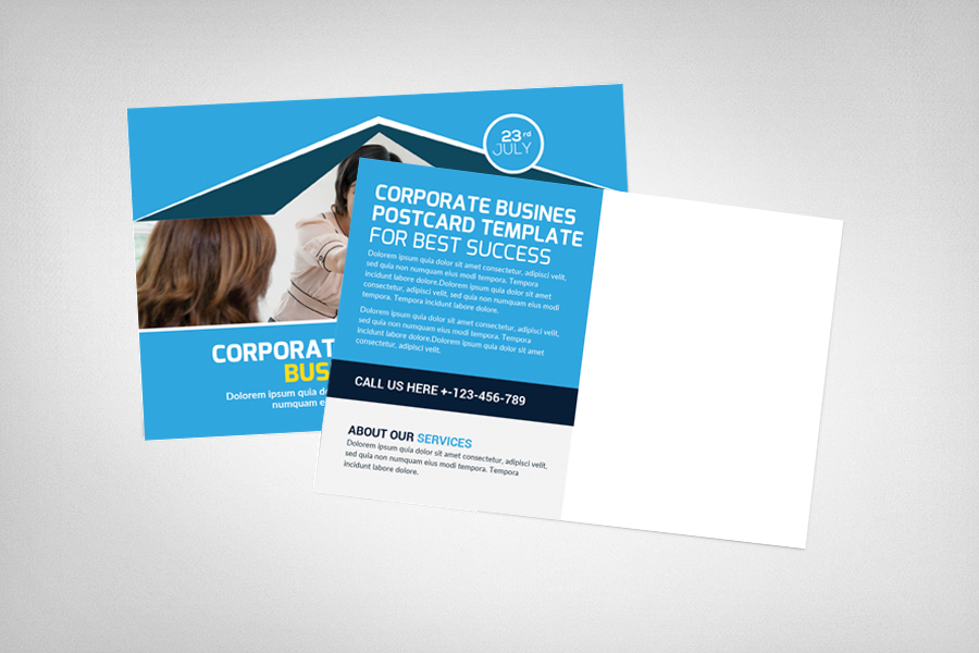 Global Business Postcard Template example image 2