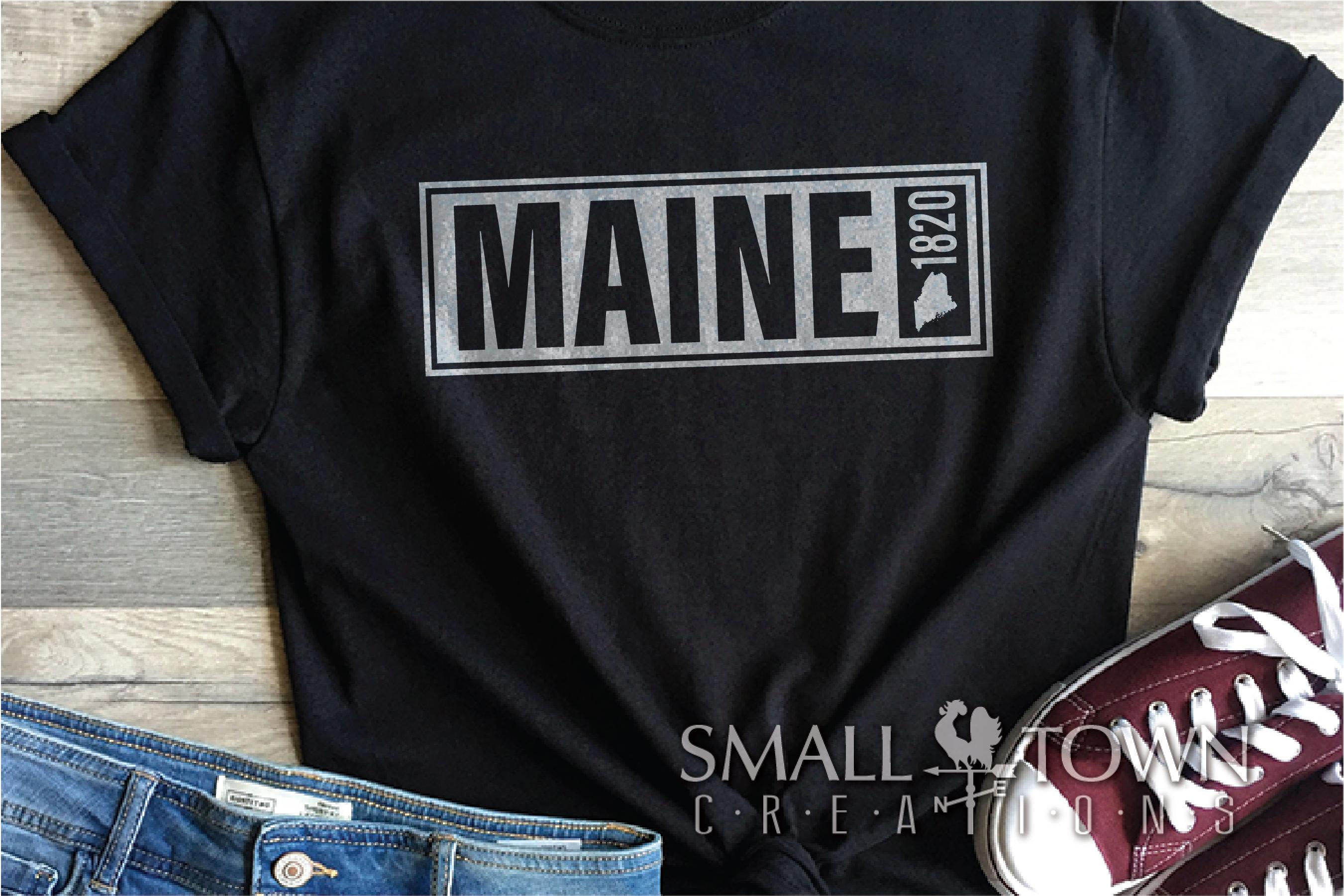 Maine, Vacationland - slogan, Logo, PRINT, CUT & DESIGN example image 4