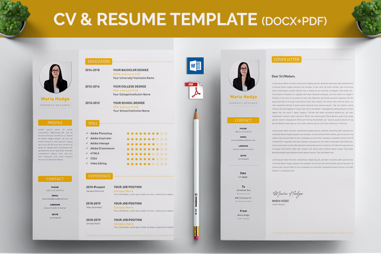 CV Resume MS Word Template example image 3