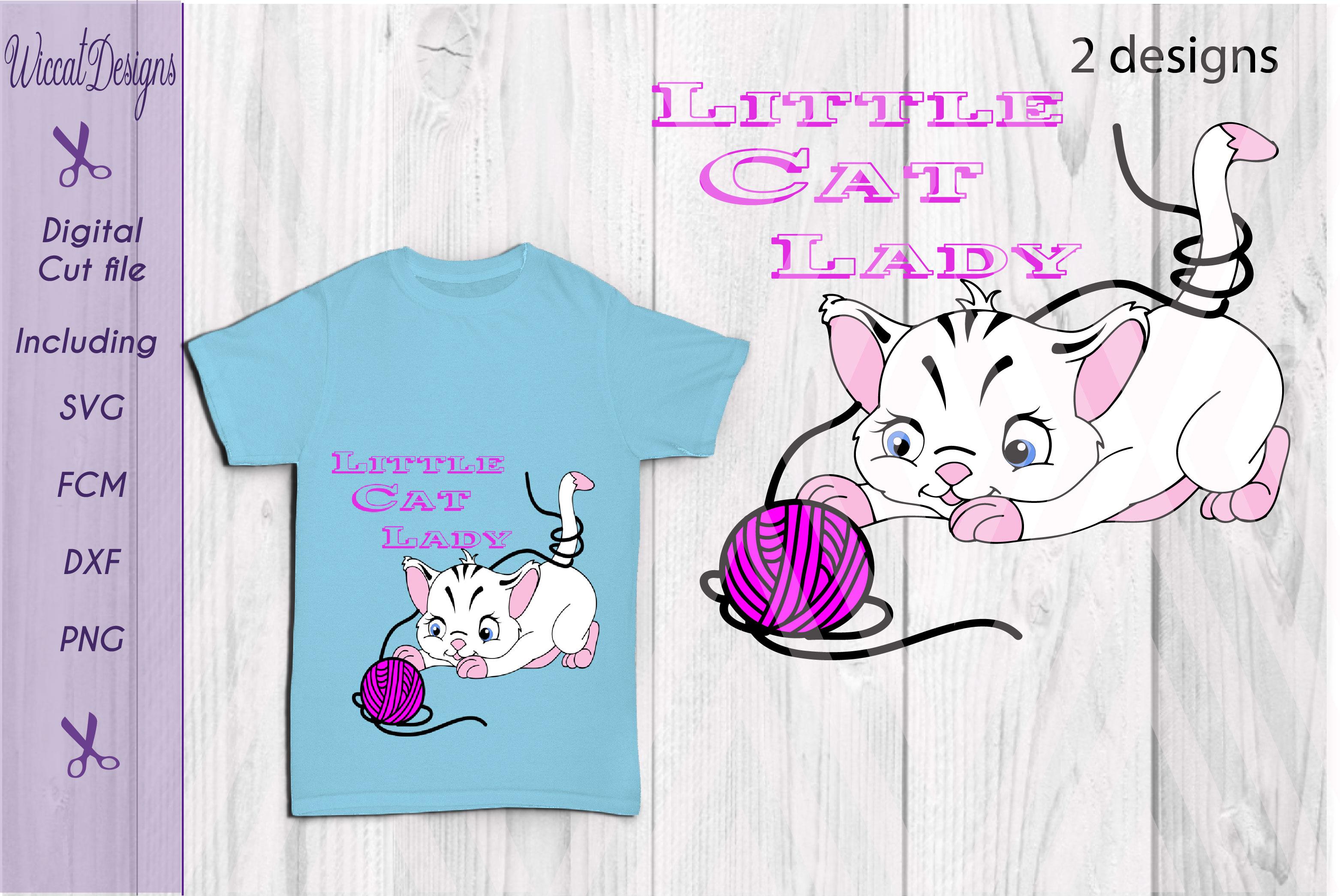 Little Cat Lady svg, digital cut file example image 3