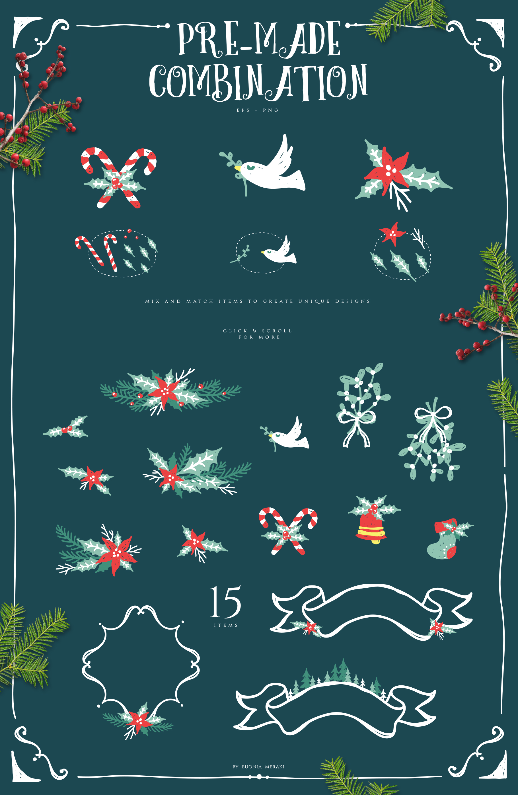 Christmas Joy - Cute and Festive Graphic Pack example image 5