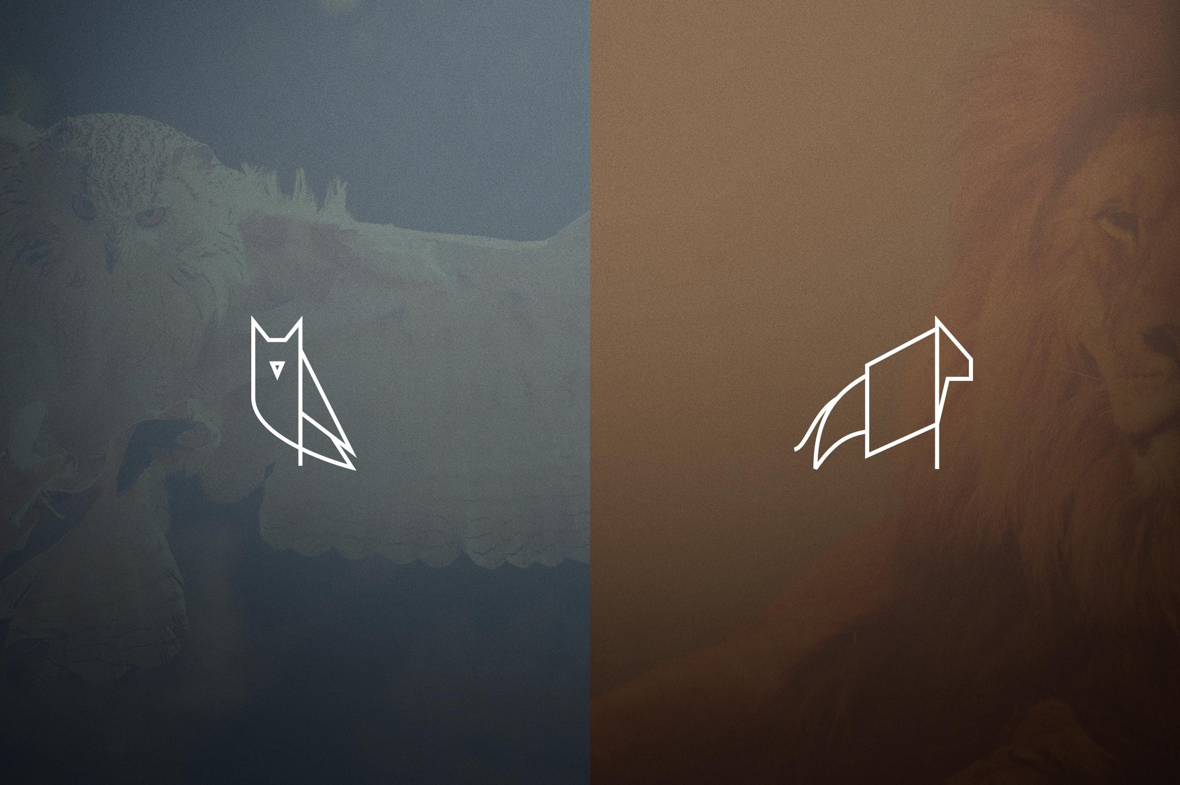 17 Geometric Animal Icons and Logos example image 6