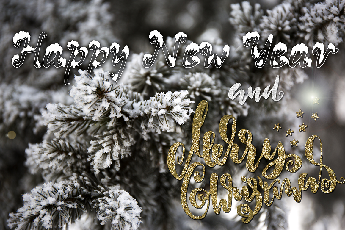 Snowy X-mas font example image 6