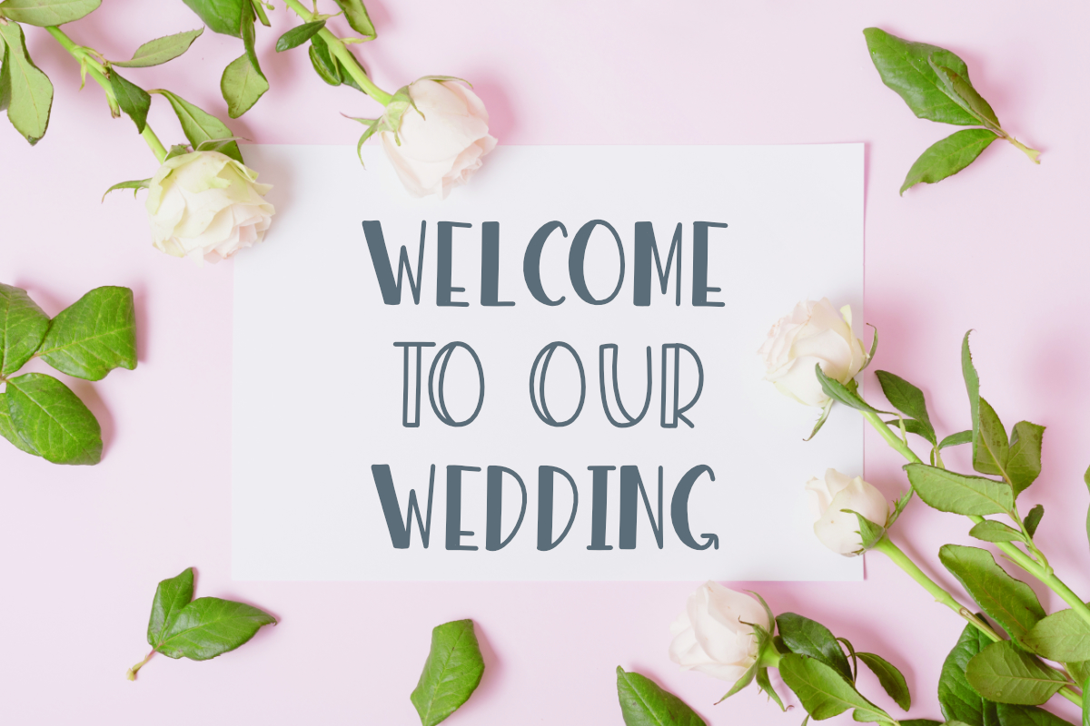 Wedding Sign Font example image 4