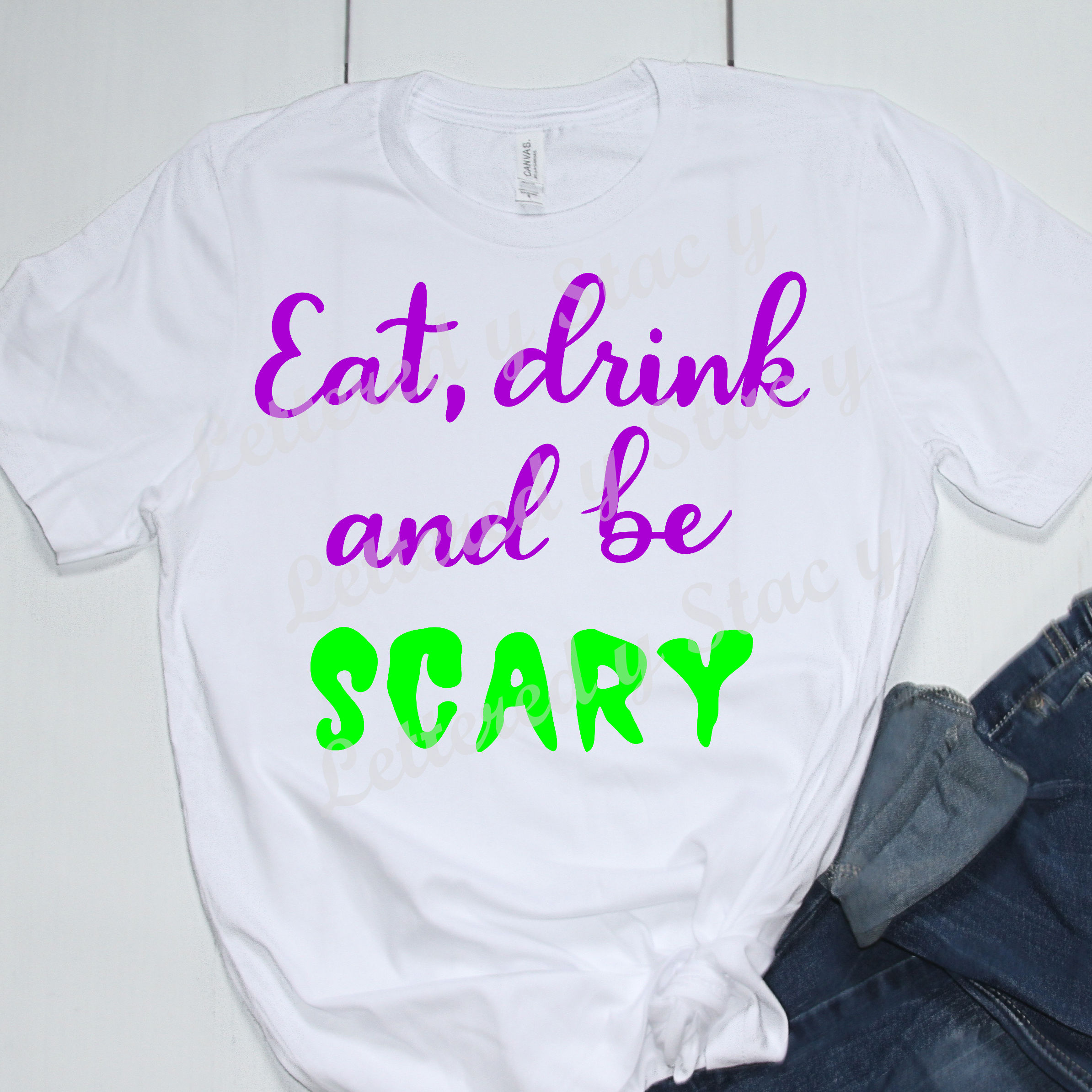Halloween SVG / Eat, drink, and be scary SVG example image 2