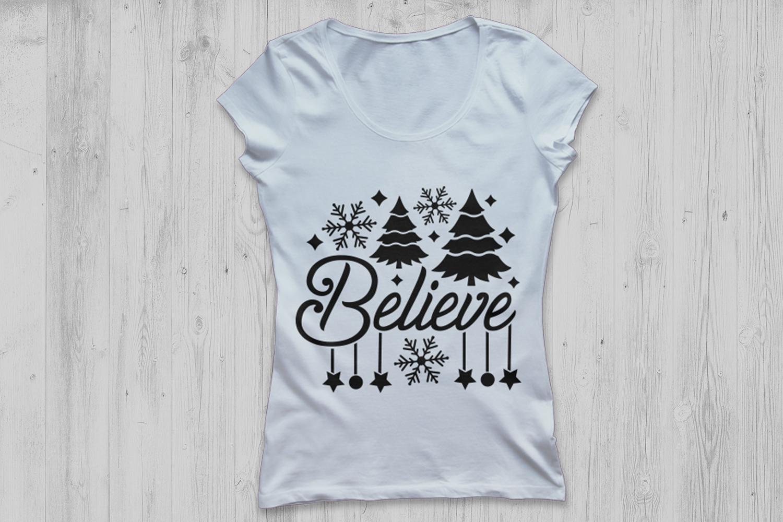 Believe Svg, Christmas Svg, Believe Christmas Svg. example image 2