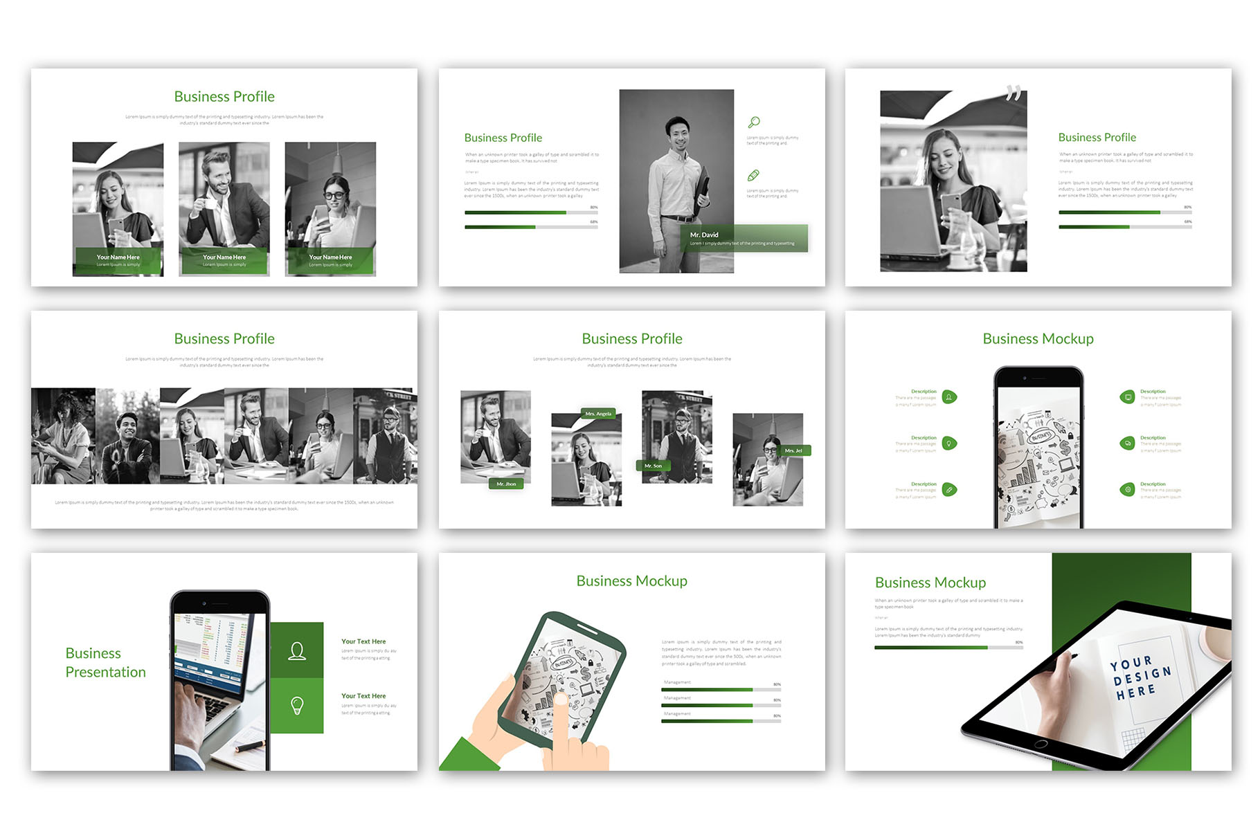 Modern Business Presentation Template example image 8