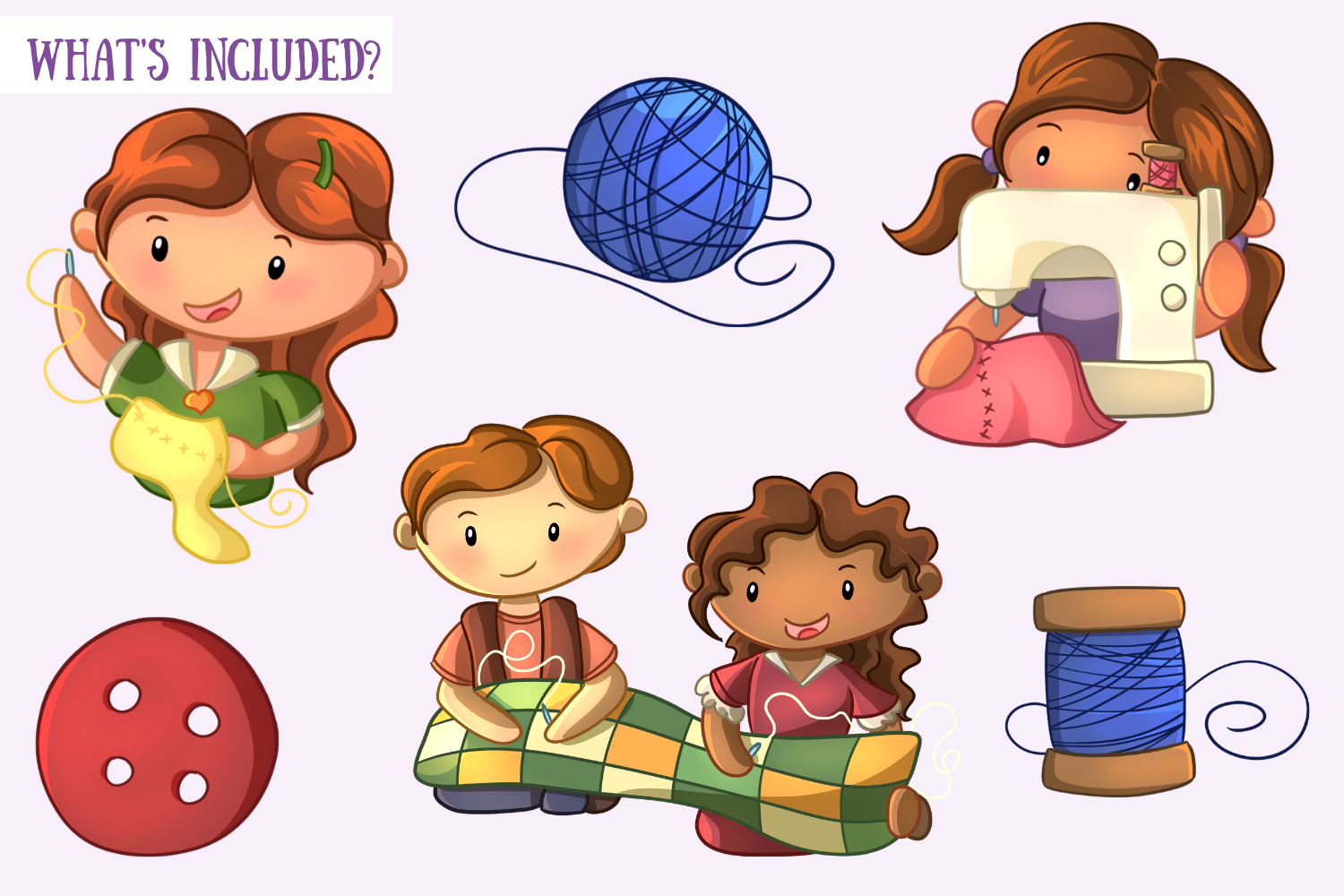 Cute Sewing Clip Art Collection example image 2