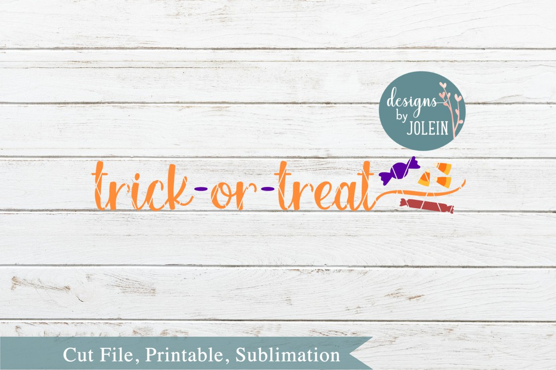 Trick or Treat with Candy SVG, png, eps, DXF, sublimation example image 3