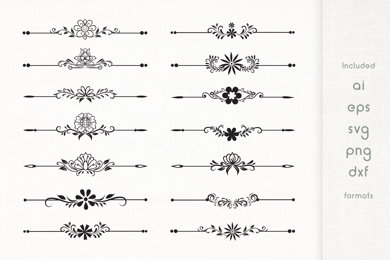 Handmade Floral Deviders Set example image 1
