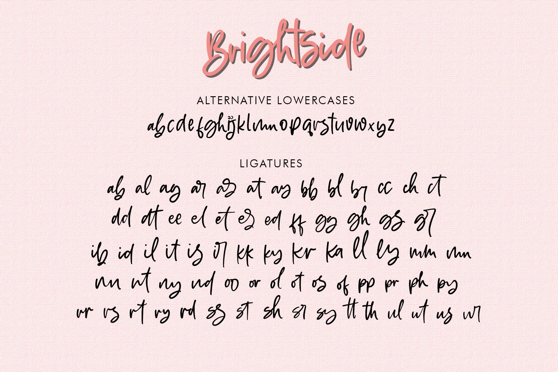 Brightside - Handwritten Brush Font example image 11