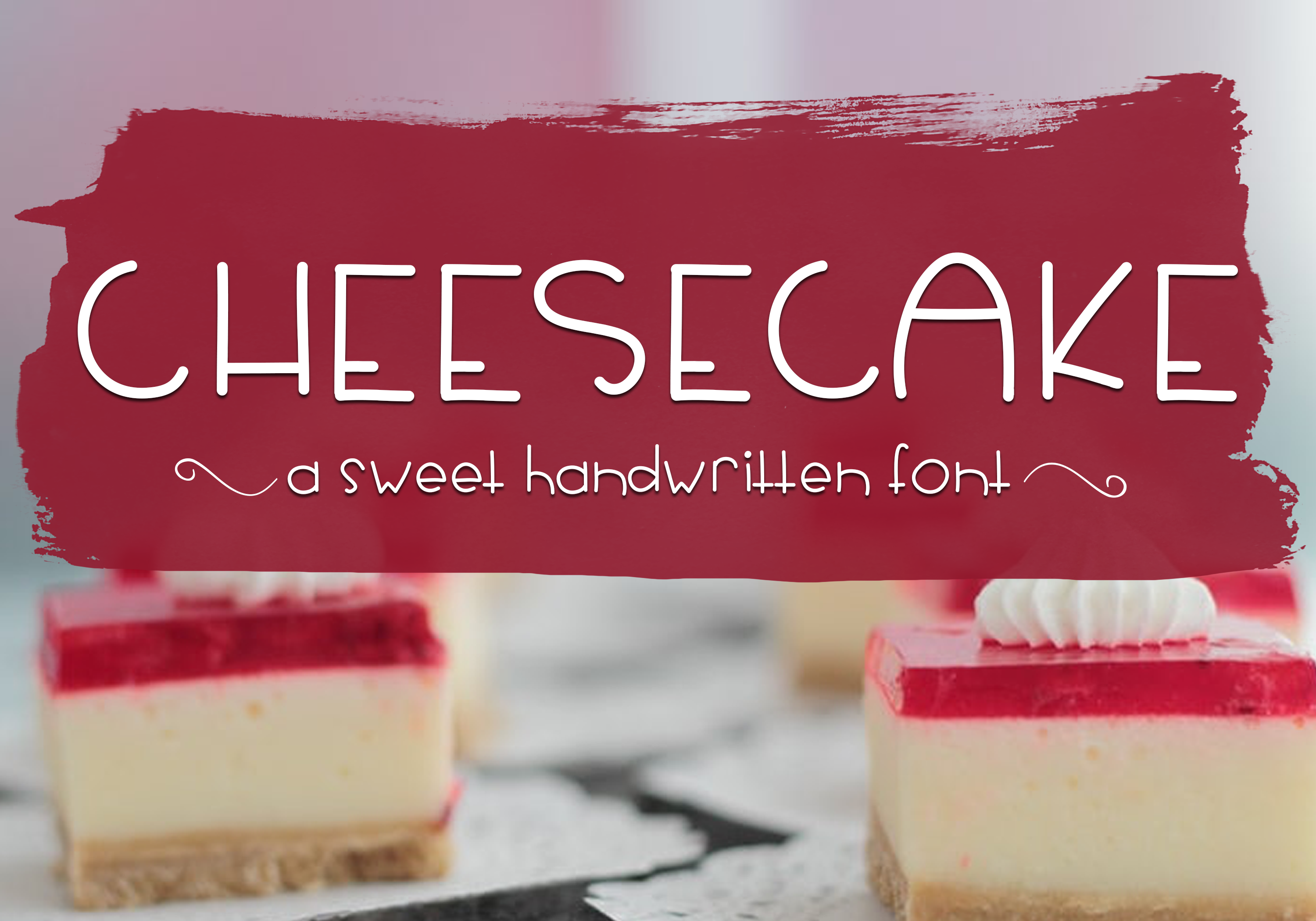 Cheesecake - A Sweet Handwritten Font example image 1