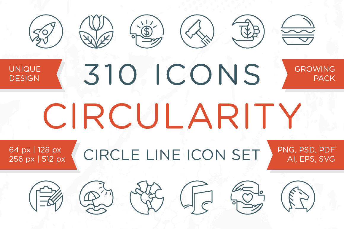 Circularity - Circle Line Icons example image 1