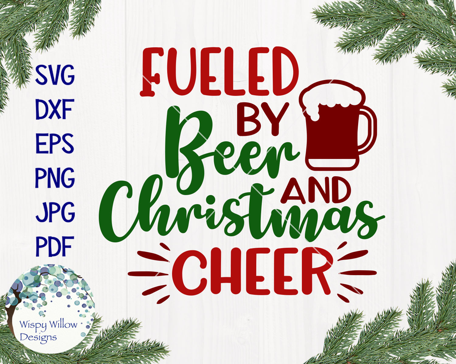 Fueled By Christmas Cheer | Christmas SVG Bundle example image 9