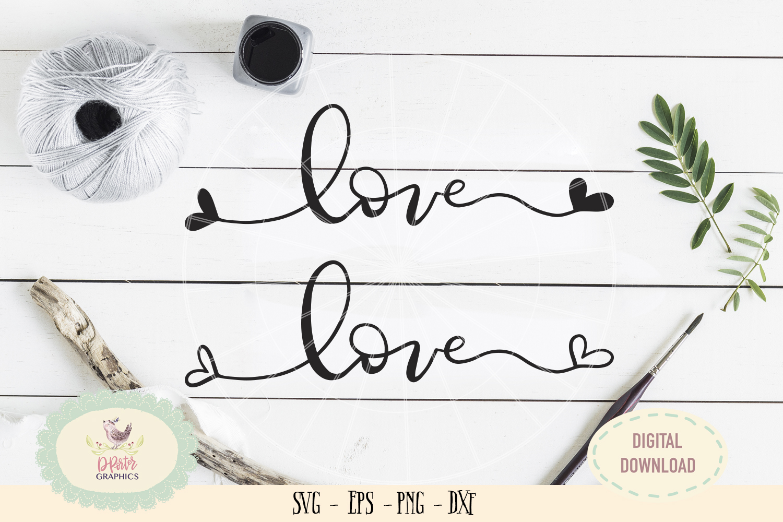 Love heart SVG PNG wedding anniversary valentine bundles example image 1