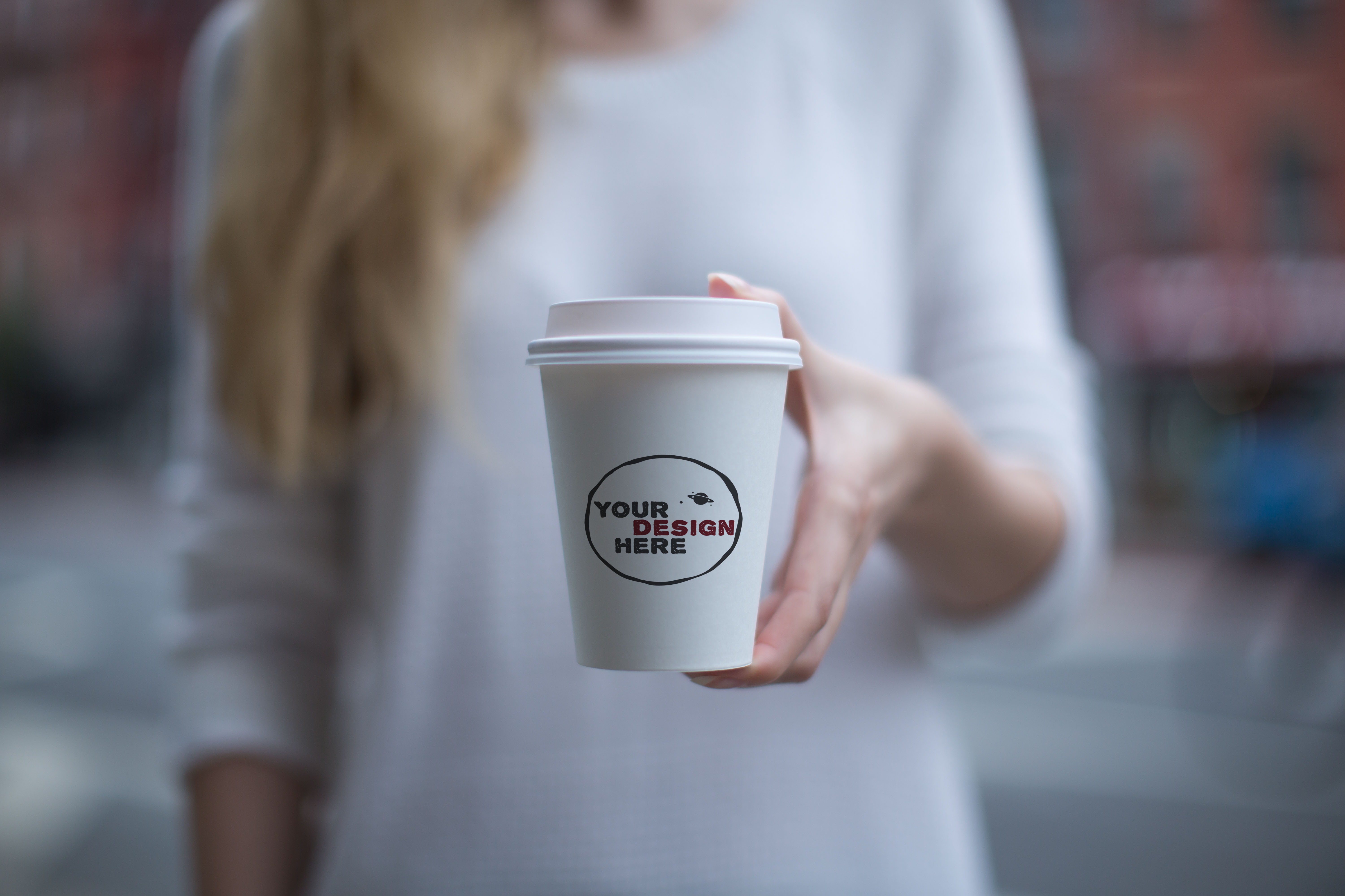 Set of 3 paper cup mockups example image 4