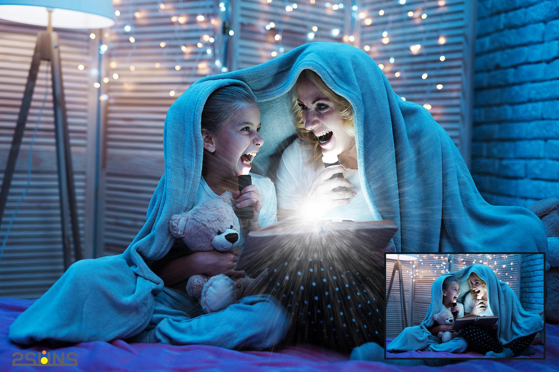 30 Christmas Photo overlays, photoshop overlays, Lamp light example image 4