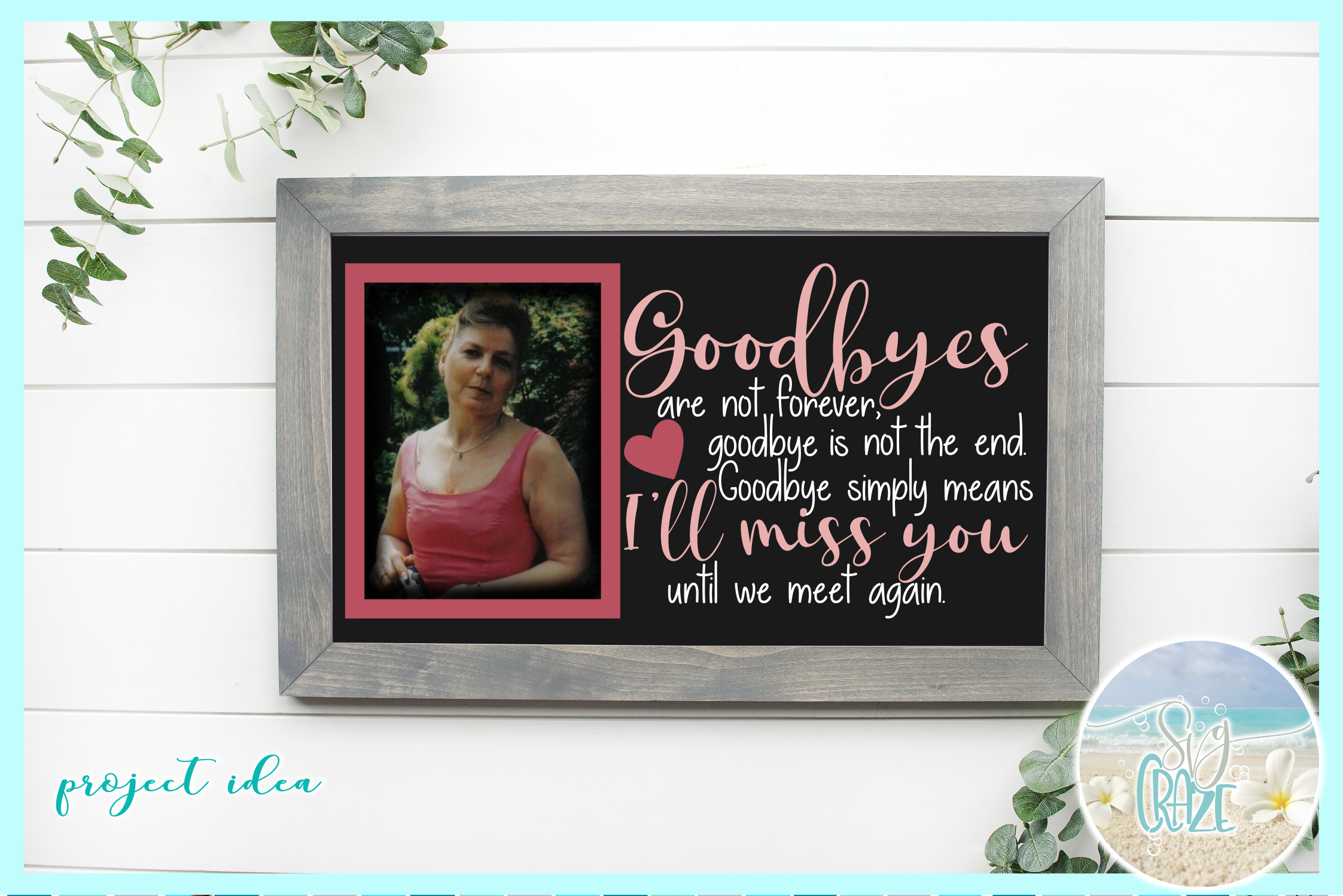 In Loving Memory Memorial Quote Bundle SVG DXF EPS PNG PDF example image 2