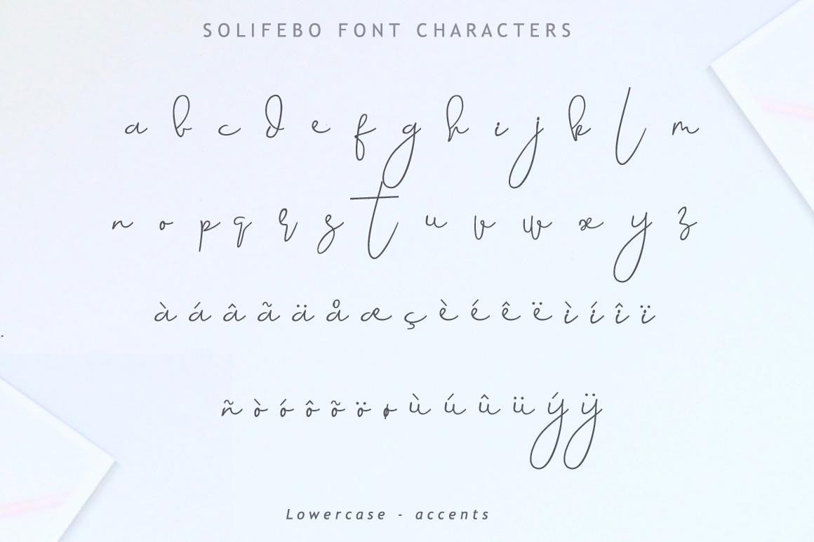 Solifebo Font example image 9