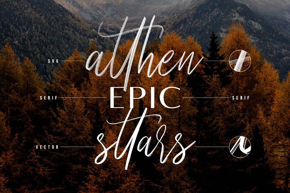 Seirra Typeface (Brush Font & Serif Font) plus SVG Font example image 4