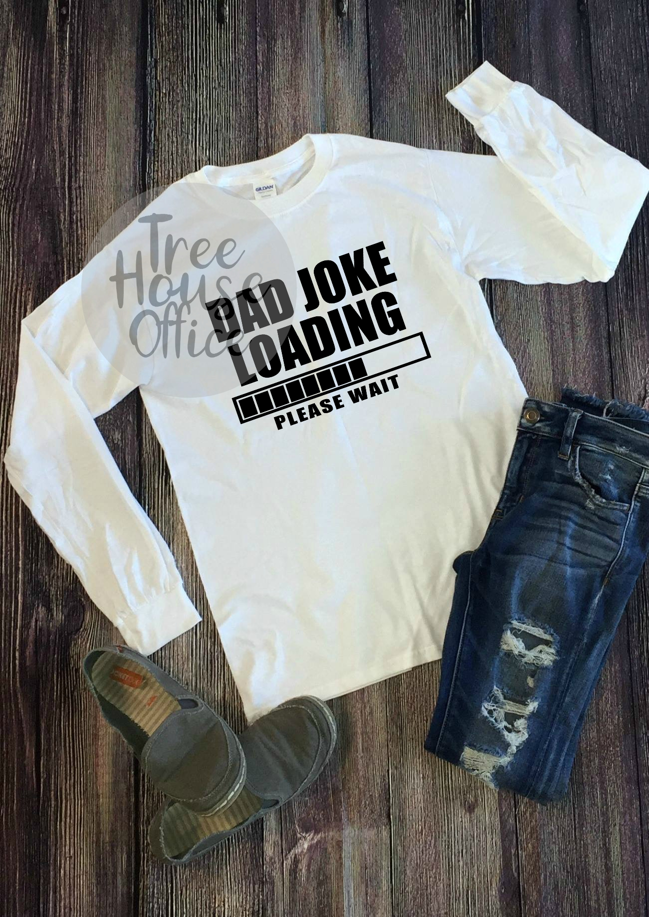 Dad Joke Loading Funny Father's Day SVG PNG Digital Cut File example image 2