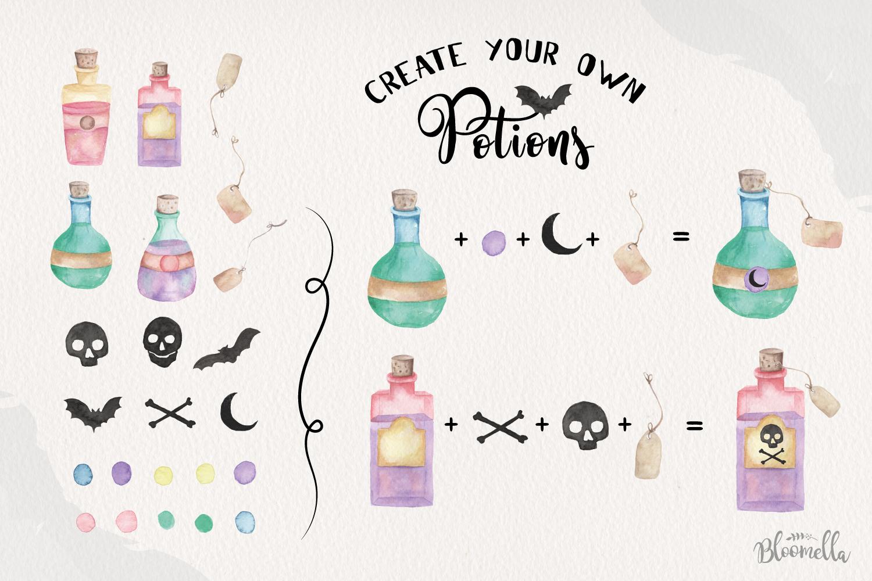 Potion Creator Halloween Spells Patterns Frames HUGE Package example image 7