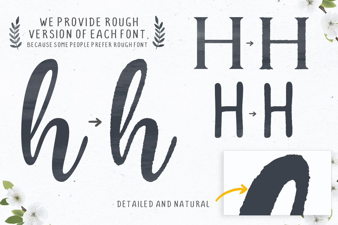 Honey Butter Font Trio & 260 Vectors example image 17