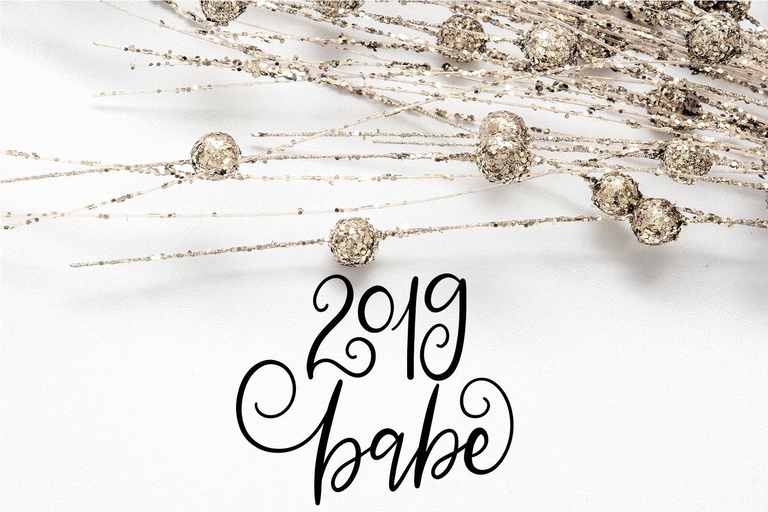 New Year SVG Bundle- Hand-lettered - 11 SVG Cut Files example image 12