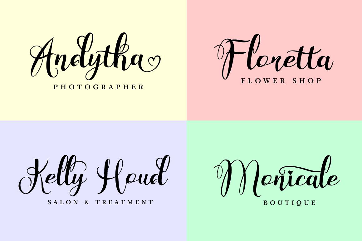 Wonderfebia - Script Wedding Font example image 8