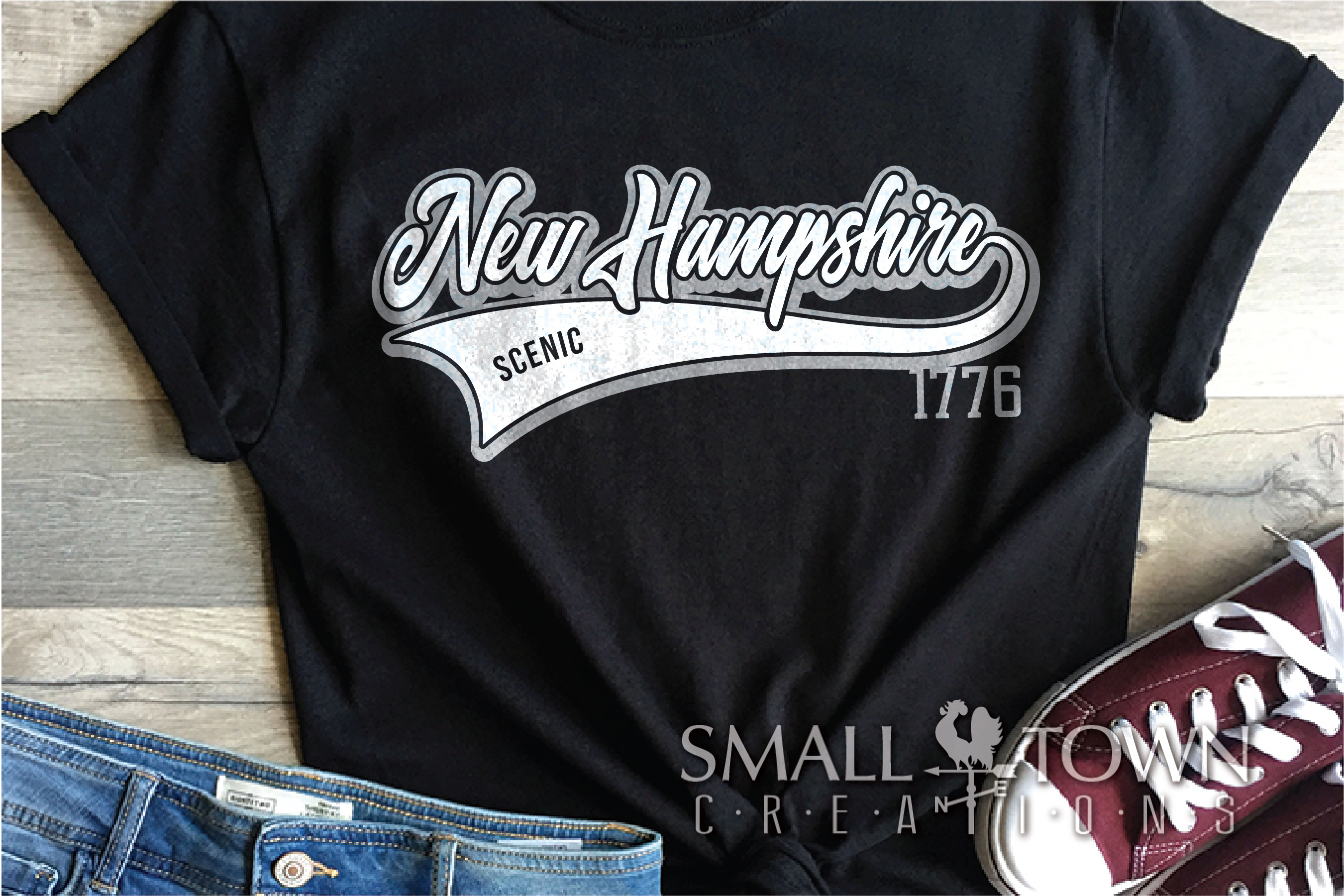 New Hampshire, Scenic - slogan, Logo, PRINT, CUT & DESIGN example image 2
