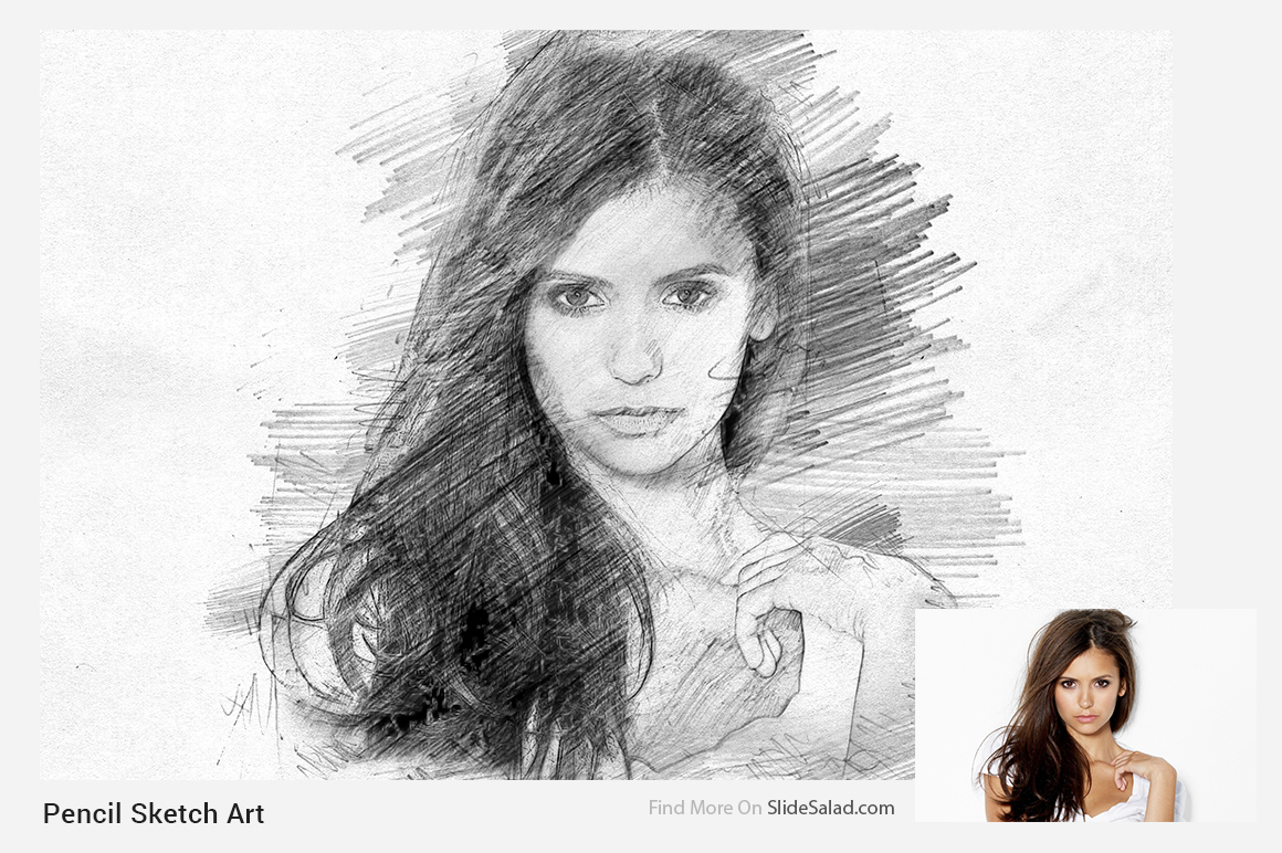 Pencil sketch art photoshop action example image 2