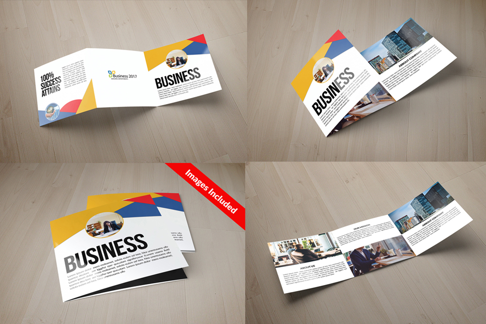 25 Square Trifold Business Brochures Bundle example image 10