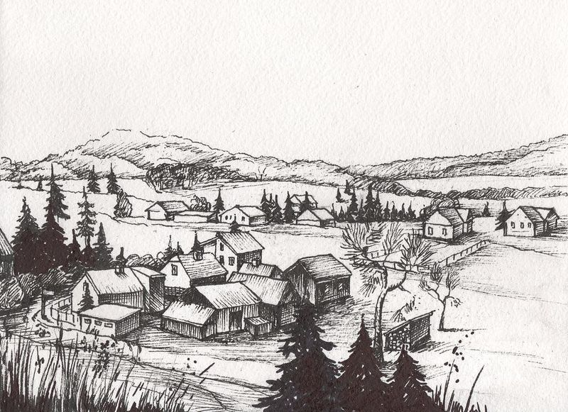 Countryside Watercolor Landscapes example image 6