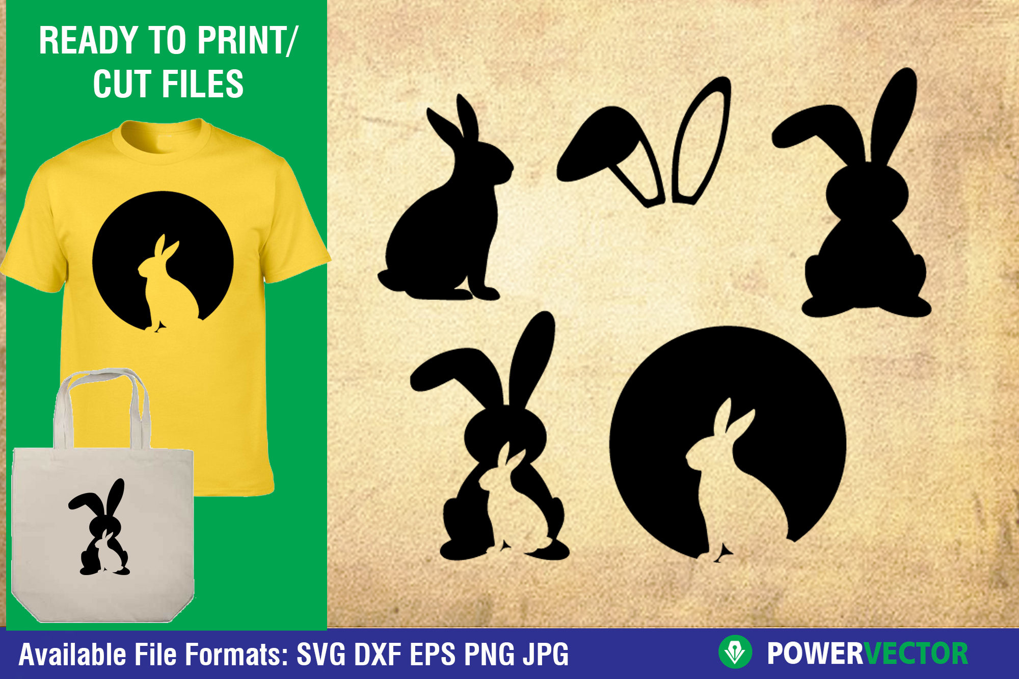 Easter Bunny SVG Vector Cut Files example image 1